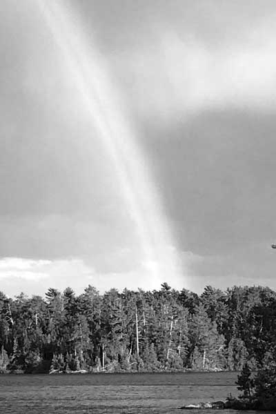 image of a Rainbow in Black and White by Michael Bailey